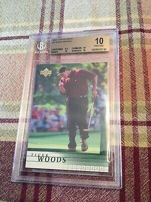 2001 Upper Deck Golf Tiger Woods ROOKIE RC #1 BGS 10 PRISTINE