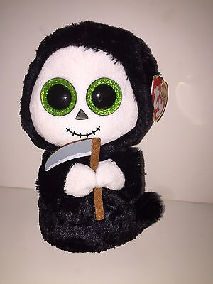 "TY GRIMM GHOST 6"" BEANIE BOOS-NEW, MINT TAG*IN HAND**LOVES TO PLAY**SHIPPING NOW"