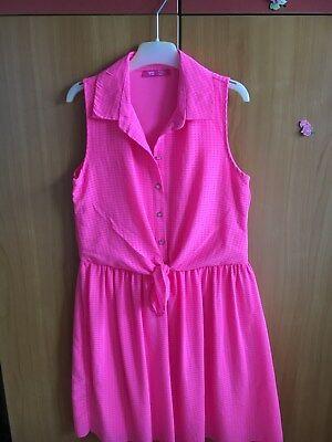 YD Mädchenkleid, Grösse: 152(11-12 Jahren), Rosa, 100% Polyester ()