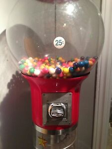 Spiral, stand up gumball machine
