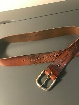 Abercrombie and Fitch Co. Brown Leather Belt, Mens M