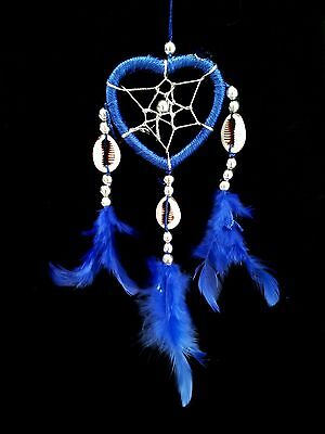 Handmade Heart-shaped Dream Catcher with Feathers car/wall hanging ornament-MHBL - Heart Shaped Ornaments