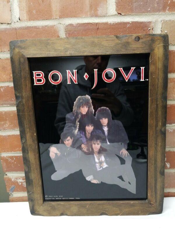 1987 Bon Jovi Band Photo 15 x 19 Framed Photo Mark Weiss 1986 MWA