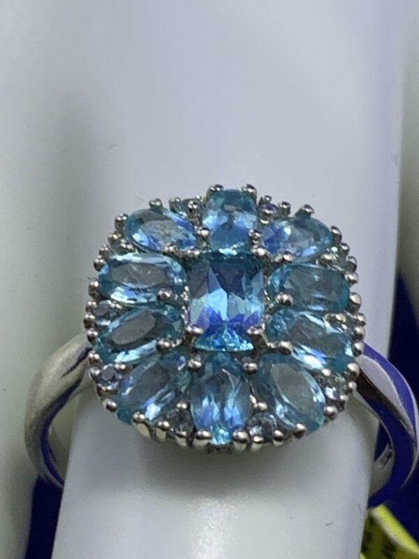 Madagascar Paraiba Apatite Ring-What color, beautiful!!!