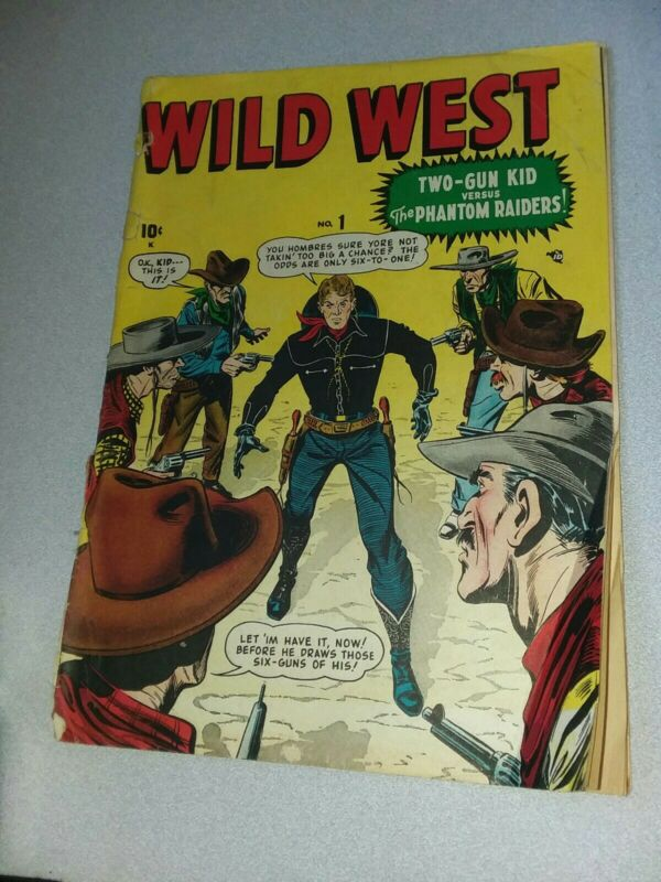 WILD WEST #1 timely comics 2nd appearance TWO-GUN KID 1948 atlas golden age hero