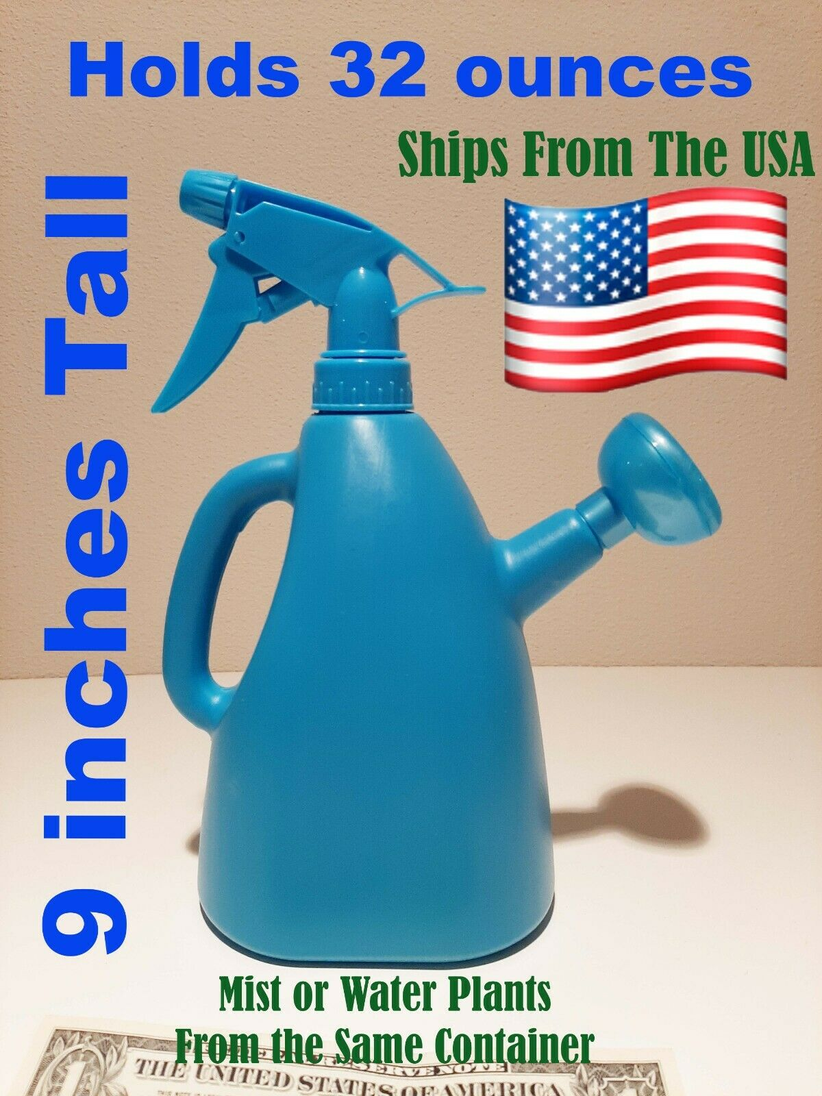 small dual watering can and sprayer mist