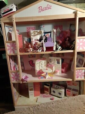 Barbie Dream House 1970's 5' Tall All Furniture With 7 Dolls Car & Bike Included
