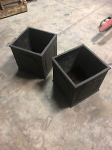 Pair of Cement Flower Pot
