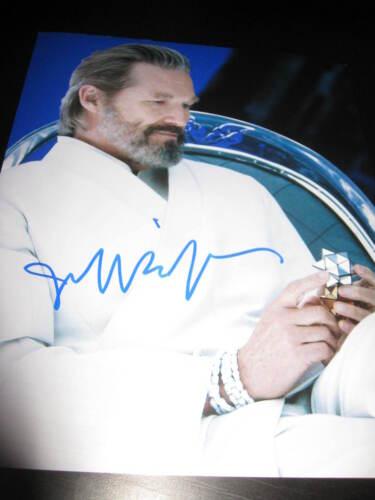 JEFF BRIDGES SIGNED AUTOGRAPH 8x10 PHOTO TRON LEGACY PROMO DISNEY RARE COA X3