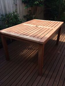 Outdoor solid wooden table Mentone Kingston Area Preview