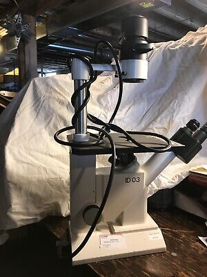 Zeiss Inverted Microscope Model Id-03 Phase Contrast Recently Tested