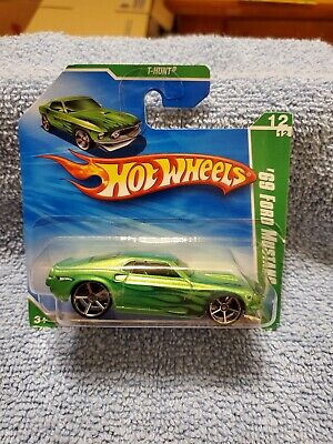 HOT WHEELS SHORT CARD SUPER TREASURE HUNTS GREEN 69 FORD MUSTANG. VERY NICE!