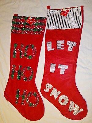 Jumbo Christmas Felt Stocking 35 inch Choice Snow or Ho Ho HO New Holiday Style (Jumbo Christmas Stocking)