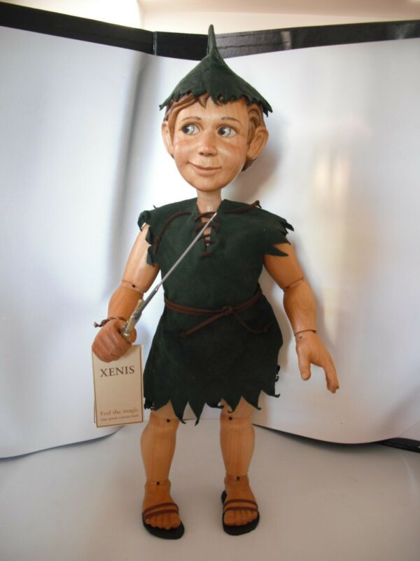 """Xenis Peter Pan Wooden Doll LE of 225- 18"""" - 2009"""
