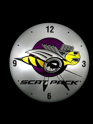 MOPAR (SCAT PACK) VINTAGE PAM STYLE ELECTRIC WALL CLOCK--- oil, gas, signs