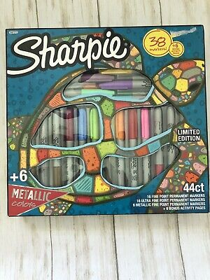 New 2019 Limited Edition 44ct Sharpie Permanent Marker Set 6 Coloring Pages