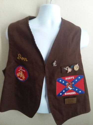 Scottsdale AZ Vintage Embroidered Jaycees Vest with Patches and Pins