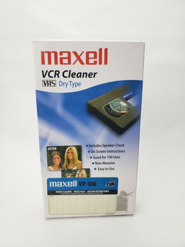 Maxwell VCR Head Cleaner - Camcorder Compatible VHS VP-100 *SEALED*