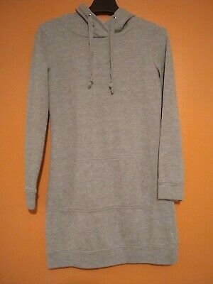Fabletics Extra Small Gray Hoodie Hooded Yukon Sweatshirt Grey Dress Tunic XS
