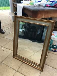 ANTIQUE GILDED SILVER/GOLD MIRROR Angle Park Port Adelaide Area Preview