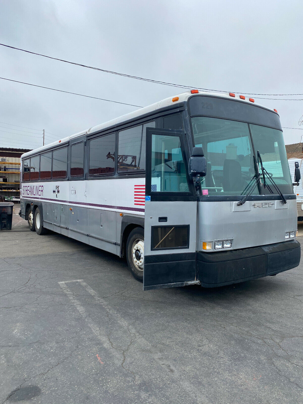 MCI D  Bus with Chairlift for charter, conversion, church, band RV motorhome