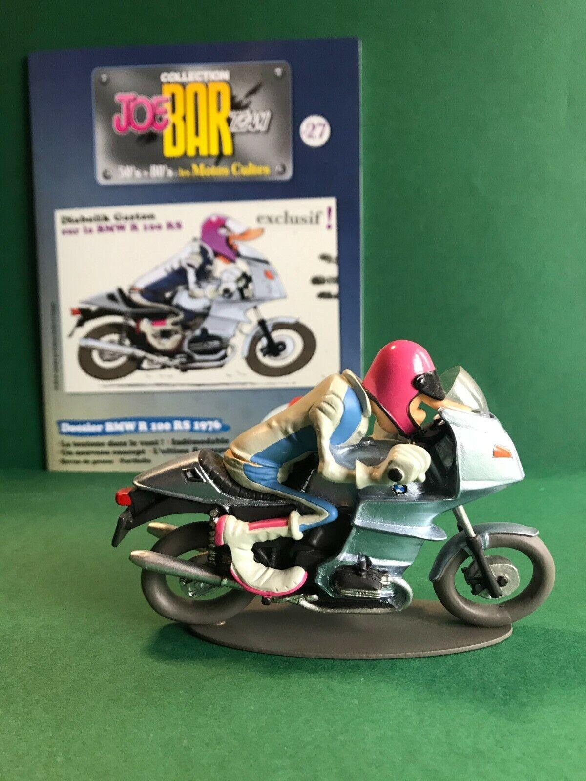 Figurine joe bar team & livret moto bmw r 100 rs