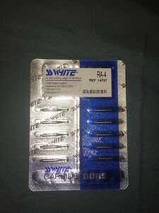 SS White RA #4 round carbide bur for slow speed latch type Dental Bur