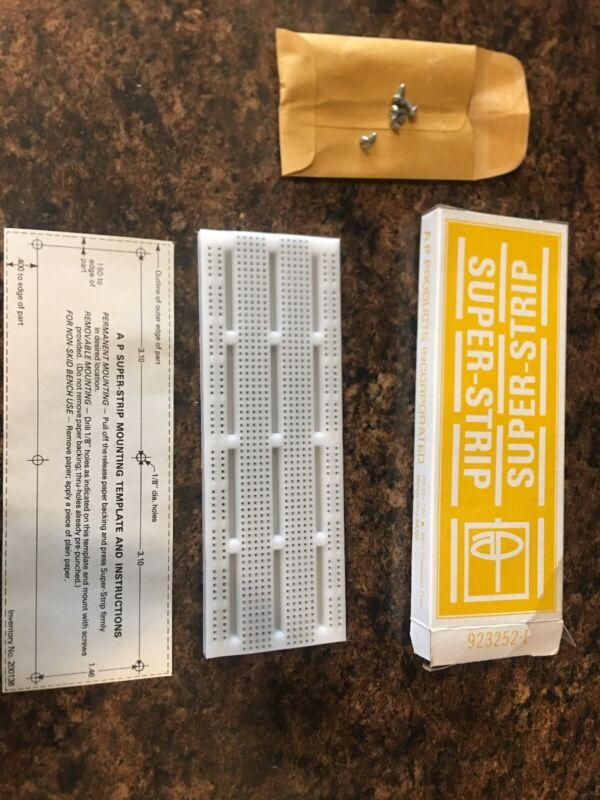 3M Electronic Project Breadboard Terminal Strip 840 tie-points AP Products