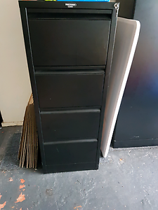 Black 4 drawer filing cabinet. St Ives Ku-ring-gai Area Preview