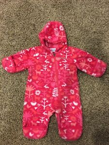 Infant fleece snowsuit