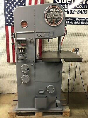 Doall Vertical Bandsaw For Metal Cutting Model 16-2