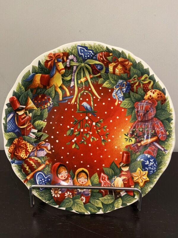 Gien France Plate from the Noel Series 2008