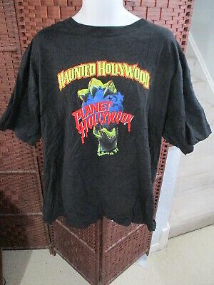 Planet Hollywood Halloween (VTG 1997 Planet Hollywood Halloween T Shirt Haunted Hollywood Size Adult)