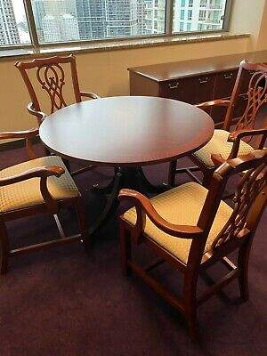 Guestsidedining Chair By Bernhardt Office Furniture W Cherry Color Wood Frame