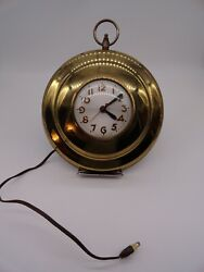 Brass Vintage 1950's Sessions Wall Clock Pocket watch works!