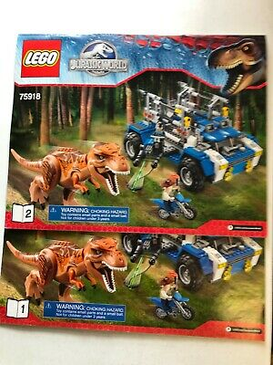 lego set 75918 T-Rex Tracker from Jurassic World with 2 manuals 2015