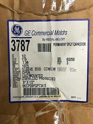 Ge 3787 Furnace Blower Motor 12hp 115vac 1075rpm