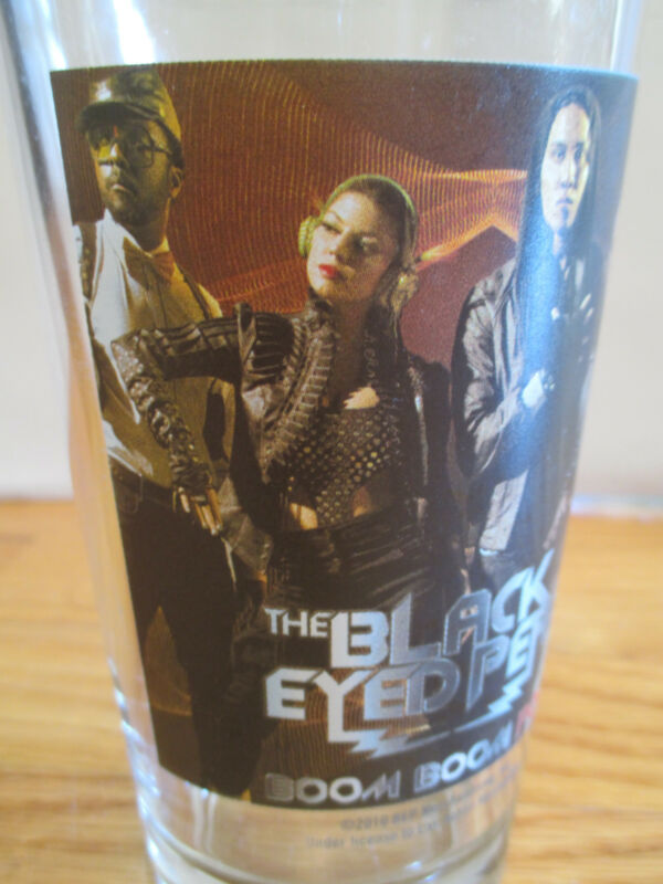 """THE BLACK EYED PEAS 6"""" Beer Glass #1"""
