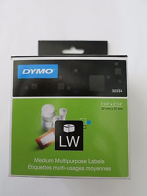 GENUINE DYMO 30334 Medium Multipurpose Labels 1 1/4'' x 2 1/4'' for sale  Shipping to India