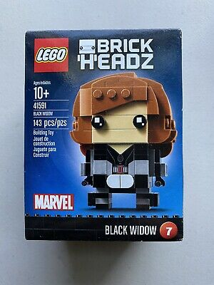 LEGO SUPER HEROES MARVEL AVENGER BRICKHEADZ BLACK WIDOW SET 41591 NEW