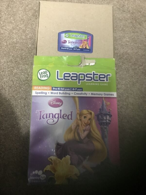 Leap+Frog+Leapster+Disney+Tangled+Learning+Game+Reading+4%2F7yrs