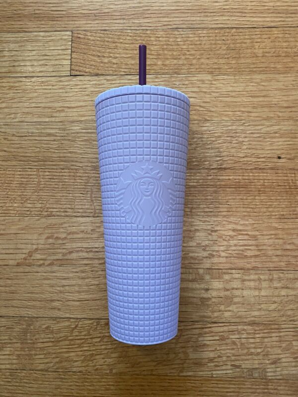 Starbucks Winter  Release Lilac Grid 24oz Cold Cup