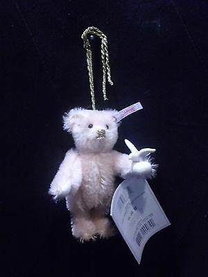 Steiff  4080725 Teddybär Lladro Ornament 12 cm Moh. pink mit Taube 00621/3000