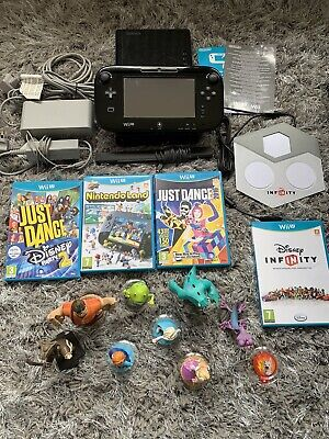 Nintendo Wii U Console 32gb Deluxe Edition Bundle | Disney Infinity, Just Dance