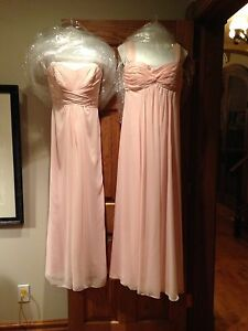 David's' Bridal Blush Rose Bridesmaids/ Prom Dresses