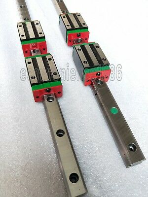 2 Sets Hgr15-1000mm Hiwin Liner Rail 4 Pcs Hgh15ca Block Bearing