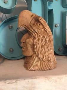 soapstone carving NA25ON065 eagle mask Indigenous art SAGO WIS