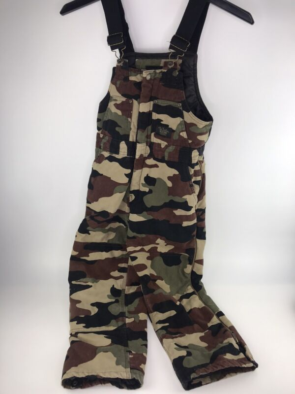WALLS BLIZZARD PRUF Insulated Overalls Camo Youth Size Lg 12-14 REGULAR A54