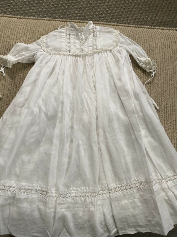 Vintage Christening Gown & Slip With Some Flaws