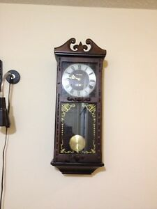 30 day wall clock large with chimes on the hour and half hour